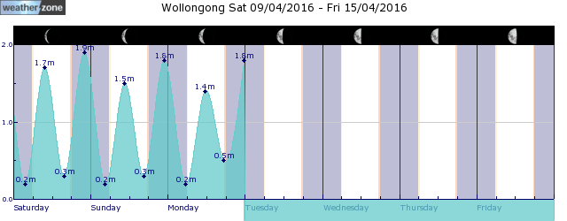 Wollongong Tide Graph