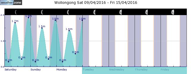Albion Park Tide Graph